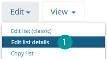 Edit list details button