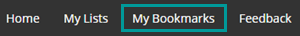 My Bookmarks button highlighted