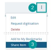 Steps to display an item link