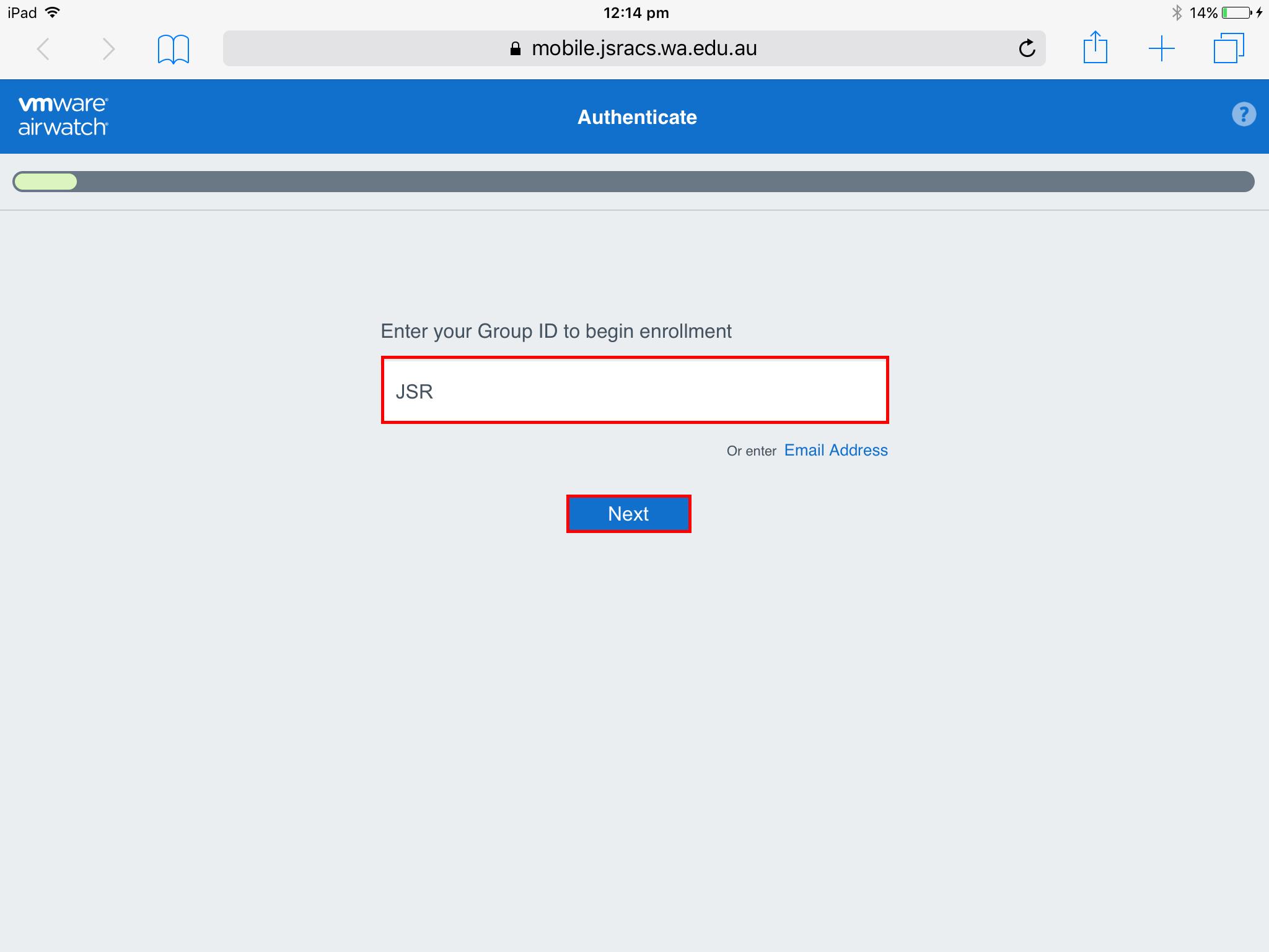 How do I Enrol My iPad into AirWatch? - JSRACS Knowledge Base