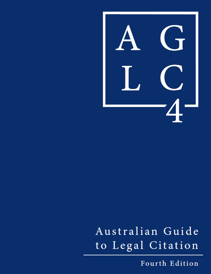 Cover of Australian Guide to Legal Citation (4th ed.)