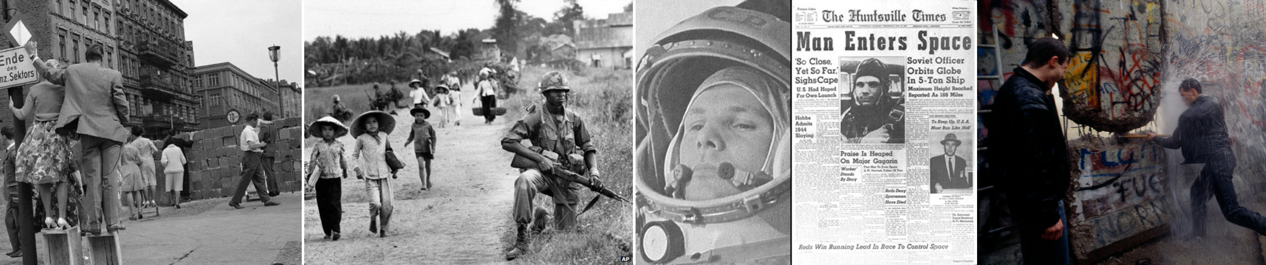 Montage of images from the Cold War
