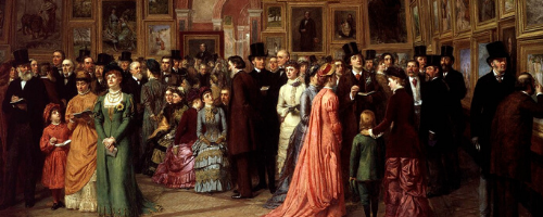 Painting: A Private View at the Royal Academy, 1881