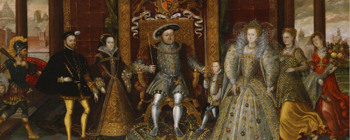 Painting: An Allegory of the Tudor Succession: The Family of Henry VIII