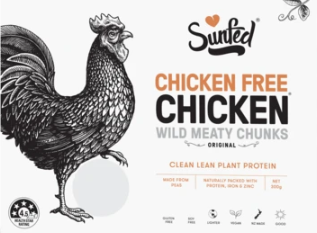 Chicken free chicken product