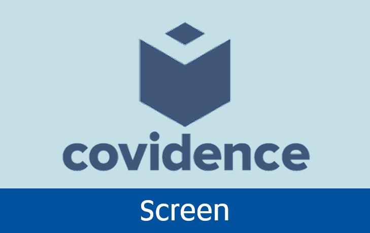 Navigate to screen with covidence page