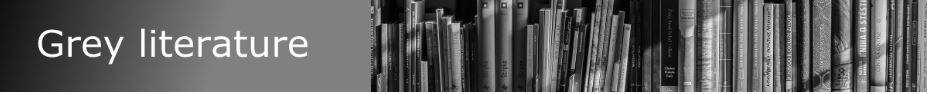 Grey literature guide banner, click to navigate