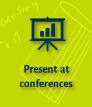 Present at conferences