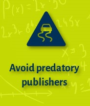 Avoid predatory publishers