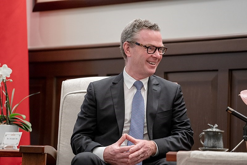 Christopher Pyne at the Taiwan Presidential Office