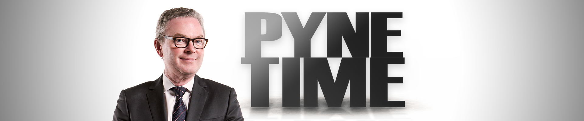 Pyne Time podcast banner image of Christopher Pyne