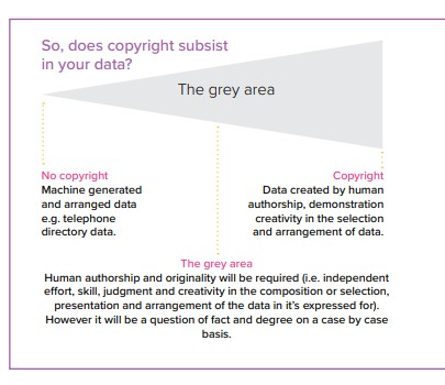diagram illustrating legal ambiguities over copyright in data
