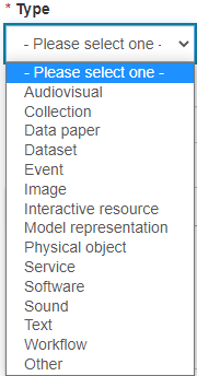 Research output types