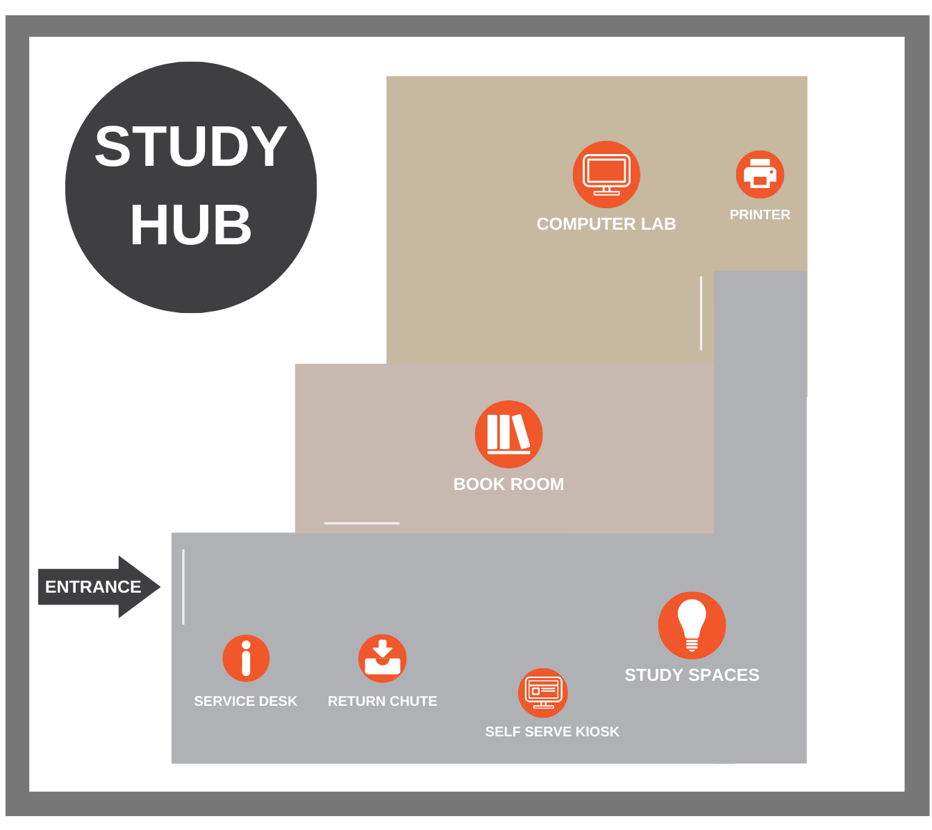 Map of Study Centre Melbourne Library