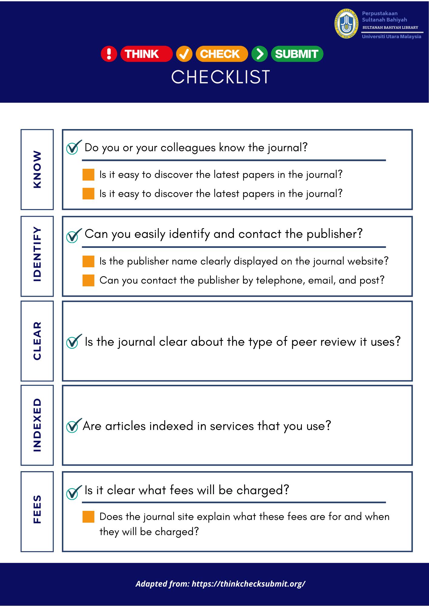 Checklist page 1