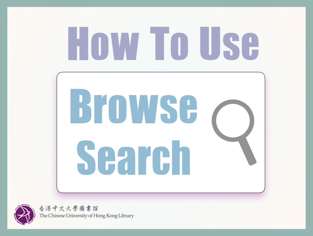 How to use Browse Search