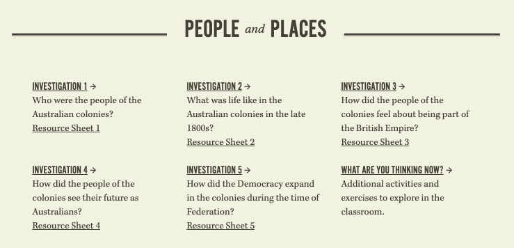 people and places of the early colonies of Australia