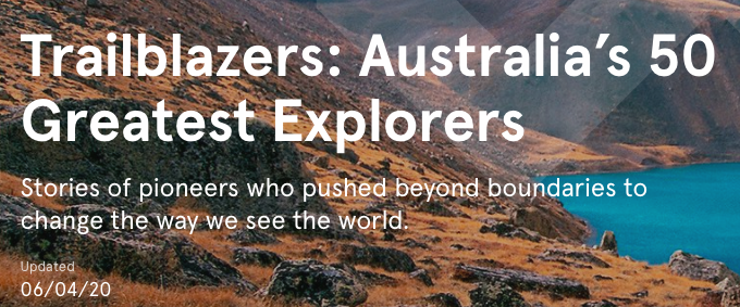 Australia's greatest explorers