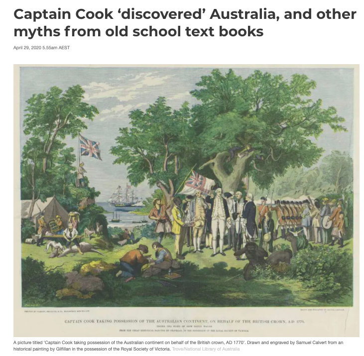 Captain Cook did not discover Australia