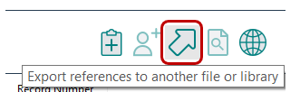 Screenshot of the EndNote Export icon.