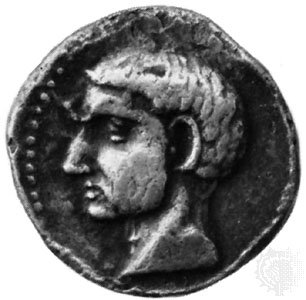 Silver coin from Carthago Nova, believed to be a portrait of Scipio Africanus the Elder; in the Royal Collection of Coins and Medals, National Museum, Copenhagen. <Encyclopædia Britannica>