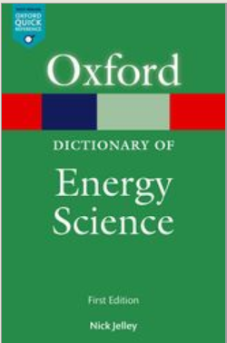 Book cover: A Dictionary of Energy Science