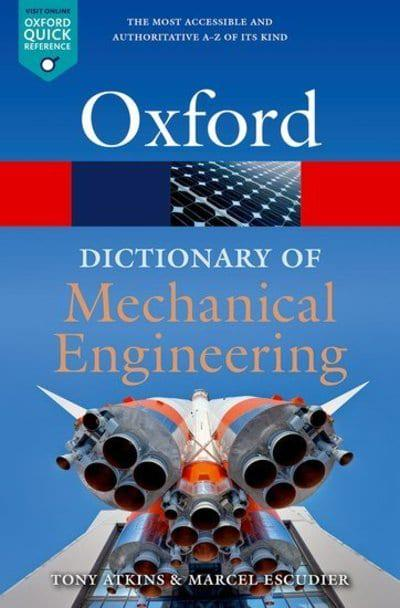 Book cover: A dictionary of mechanical engineering
