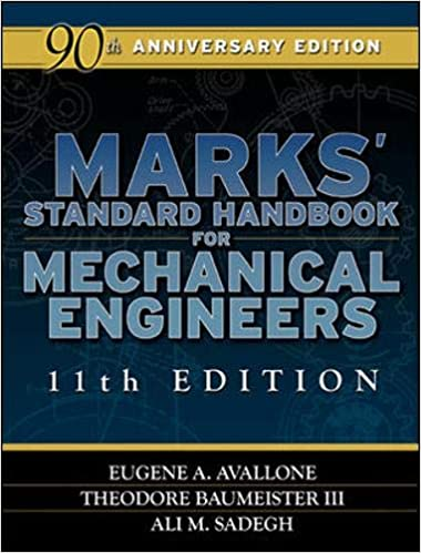 Book cover: Marks' Standard Handbook for Mechanical Engineers