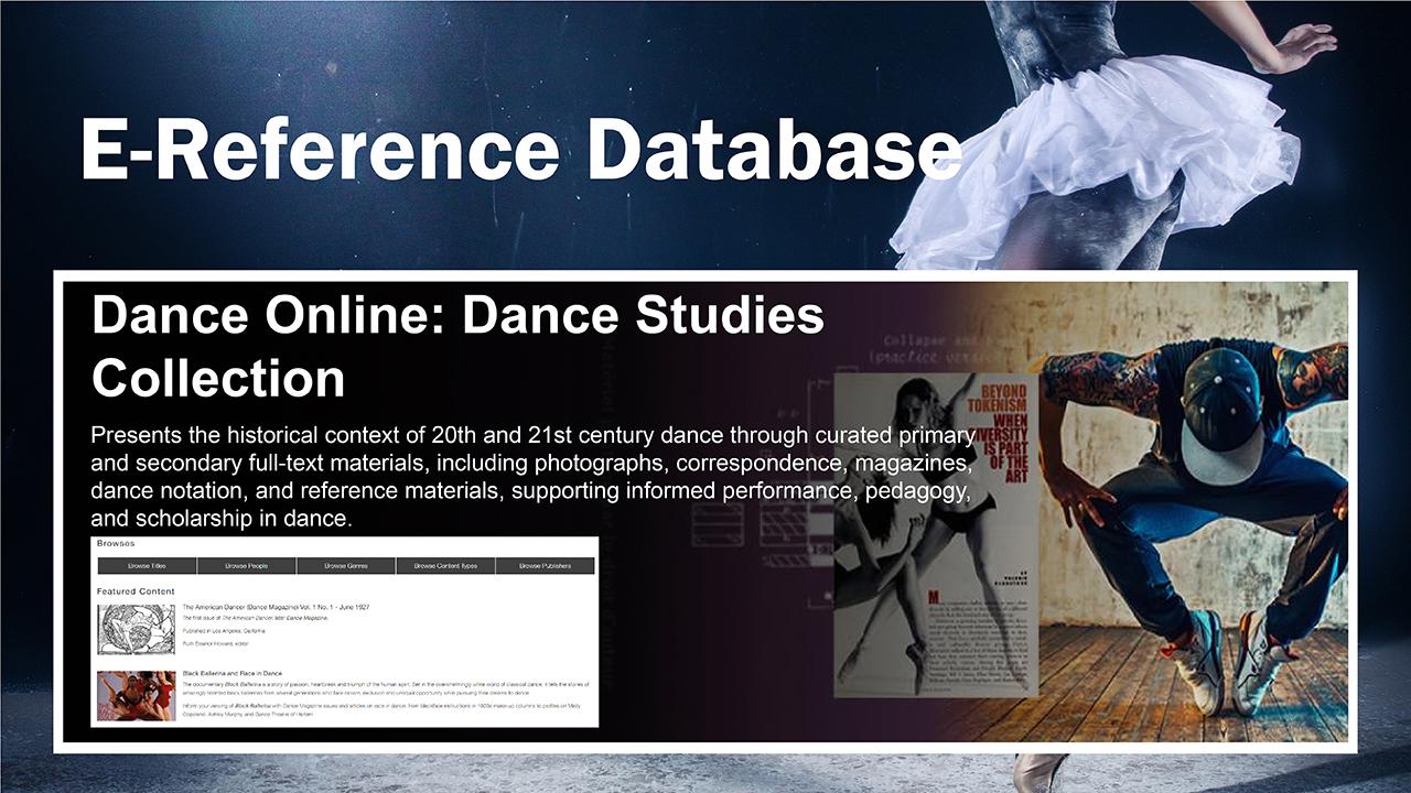 Dance Online: Dance Studies Collection
