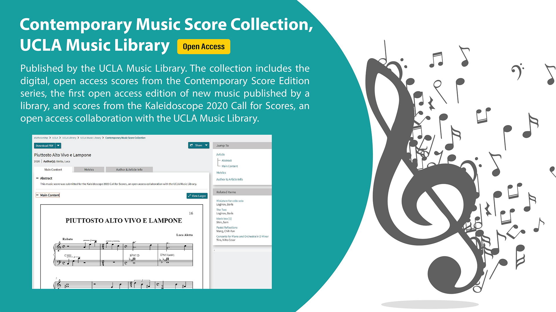 Contemporary Music Score Collection, UCLA Music Library