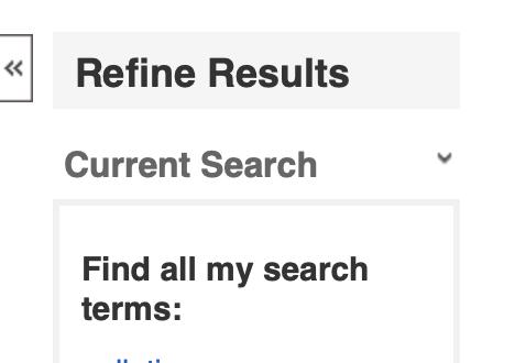 Refine results