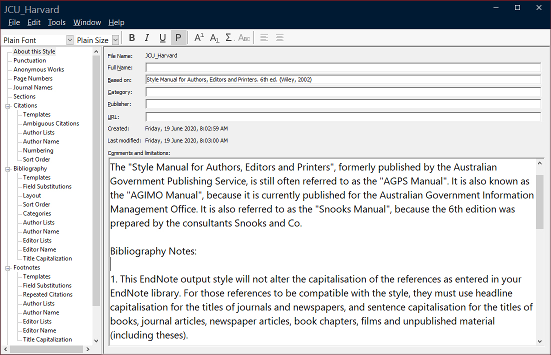 EndNote style image