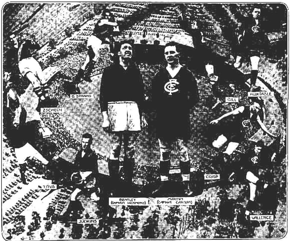 Argus 1 October 1932 p19 illustration of grand final players
