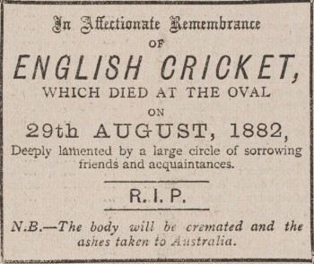 Sporting Times obituary 2 September 1882