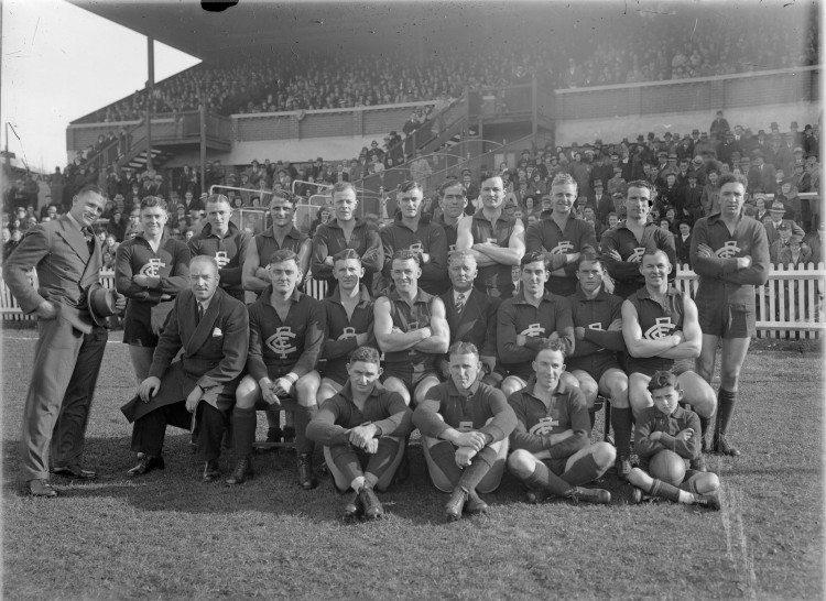 Carlton Football Club circa 1939, containing most of the players from the Premiership Year.