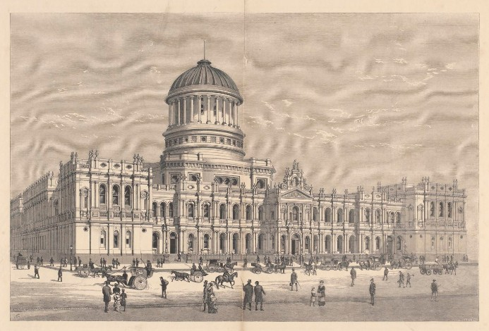 The new law courts William Street, Melbourne 1870     H17927