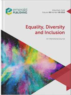Cover image of Equality, Diversity and Inclusion: an International Journal