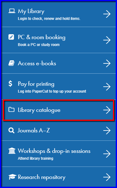 Library Catalogue - Permanent links from Library Resources