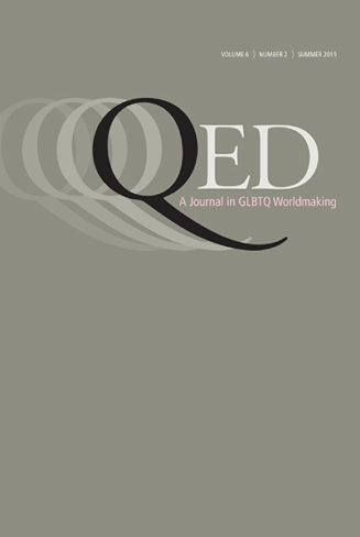 Cover image of QED: A journal of GLBTQ worldmaking