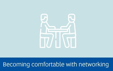 link to Becoming comfortable with networking page
