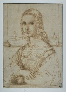Portrait of a woman by Raphael
