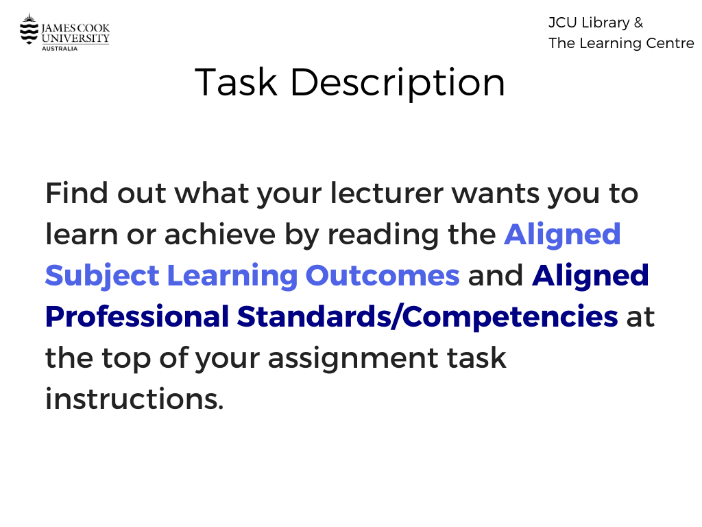 Task description learning outcomes image