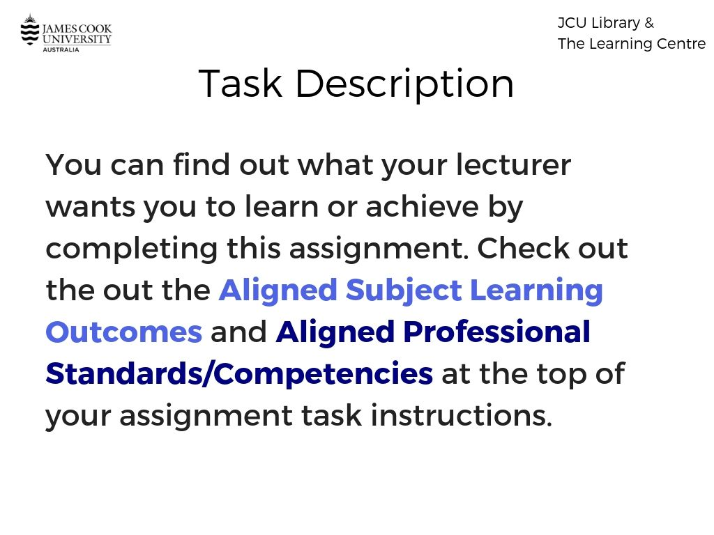 Assignment task instructions image.