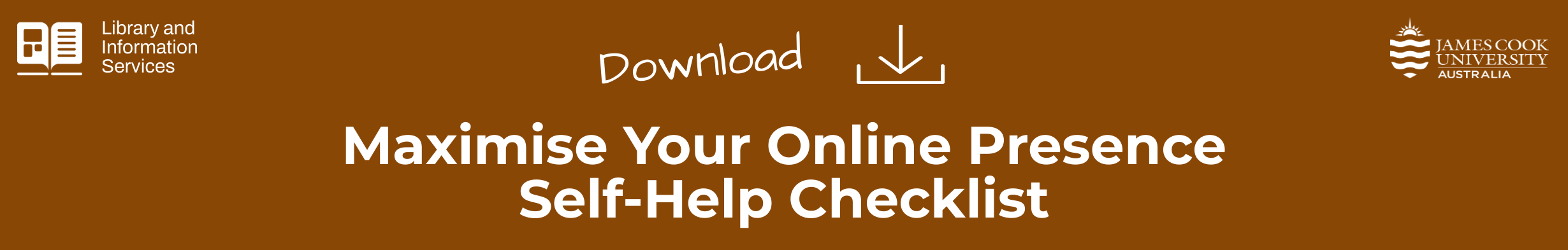 Download the maximise your online presence self-help checklist