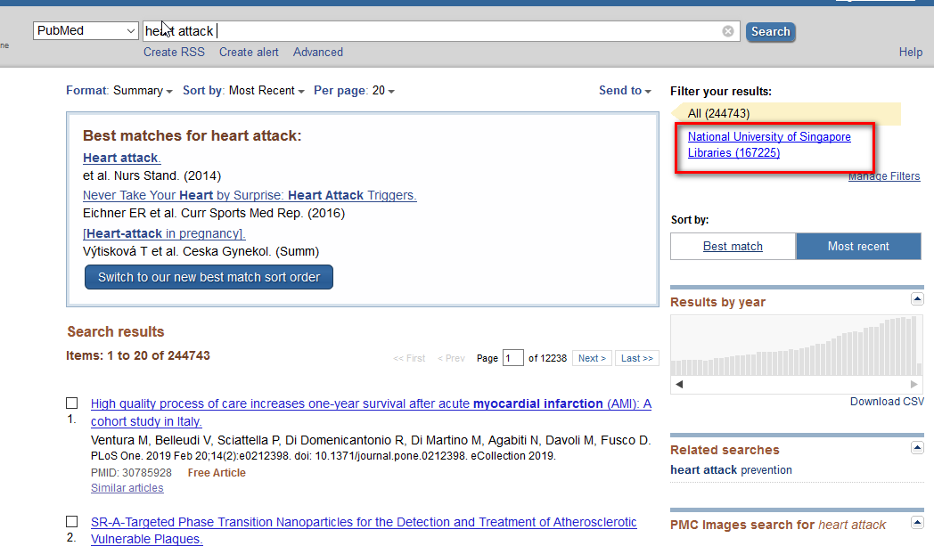How do I access the full text of journal articles from PubMed