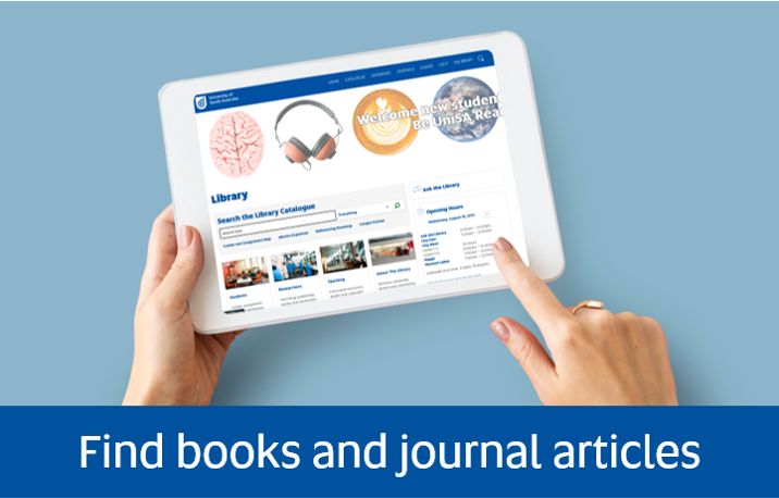 select to access Find books and journal articles page