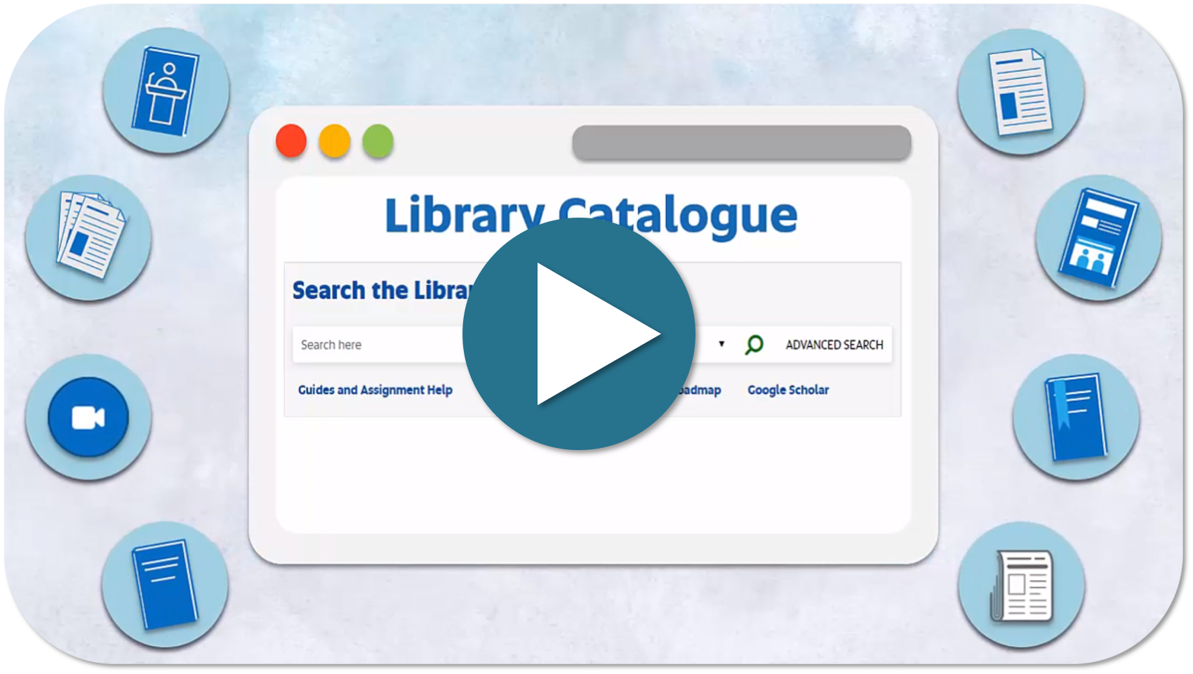 select to watch the video: choosing where to search