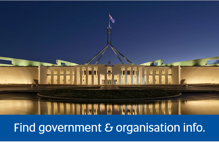 select to access Find Government and Organisation Information page