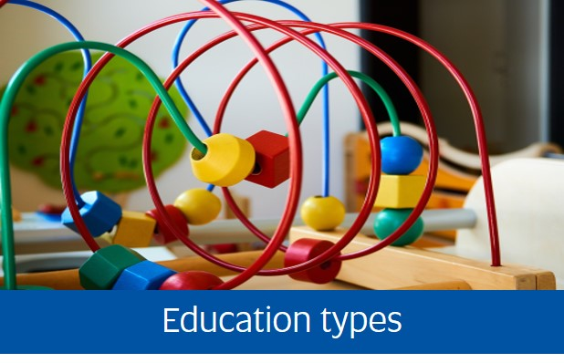 Navigate to education types page