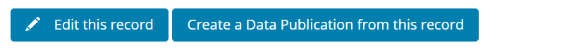create Data Publication from this record screenshot